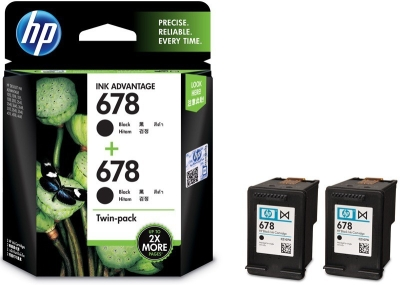 HP 678 Twin Pack Single Color Ink Cartridge