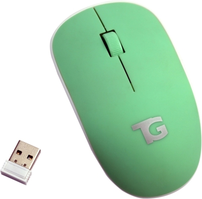 TacGears Rose Wireless Optical Mouse (USB, Green)