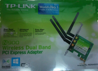 TP-LINK TL-WDN4800 450 Mbps Wireless N Dual Band PCI Express Adapter NIC