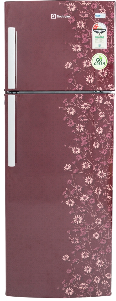 Electrolux 235 L Frost Free Double Door Refrigerator (EP242LMD, Maroon Daisy)
