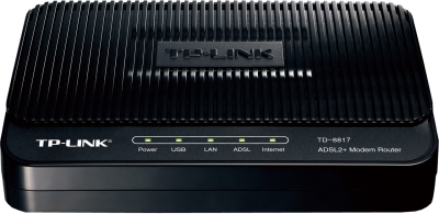 TP-LinkTD-8817 ADSL2 Ethernet/USB Wired with Modem Router
