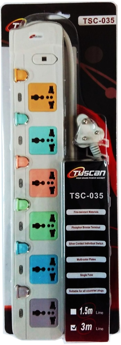Tuscan Extension Cord 6 Strip Surge Protector (Tsc-035a)