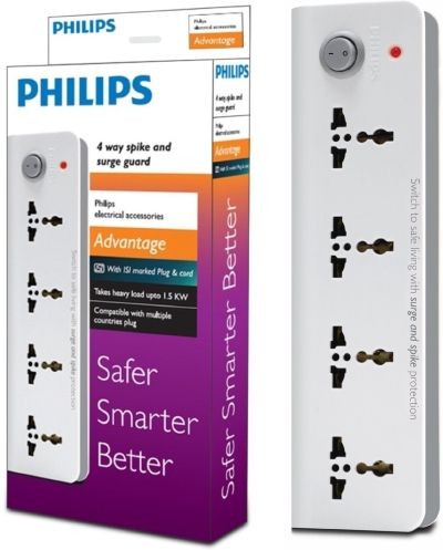 Philips  4 Strip Surge Protector (S&S 4 Way)