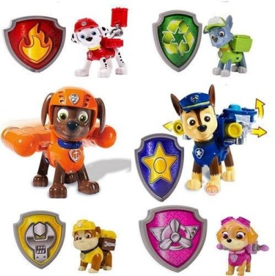Switch Control Paw Patrol Action Figures Set of 6