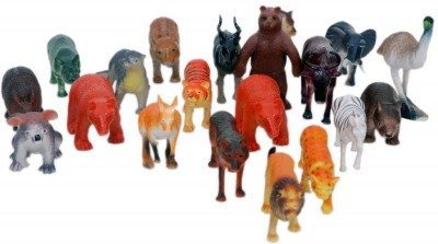 Surya Surya Wild Animals Plastic Toys For Kids ( 20 Pcs. Pack )
