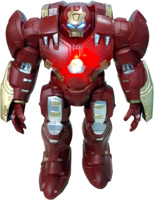 Wishkart 9 inches Avengers HULK BUSTER Moving Robot Toy With Lights And Sound