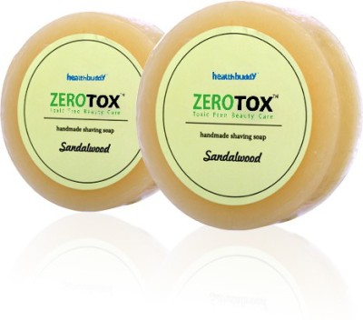 Healthbuddy Zerotox Handmade shaving soap sandalwood 2 pcs of 125 gms each Aftershave