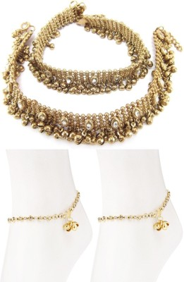 Charms Combo Of Ethenic Diva Precious Alloy Anklet
