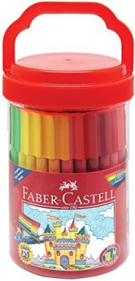 Faber-Castell Connector Pens Bucket 50 Markers Premium Art Supplies For Kids
