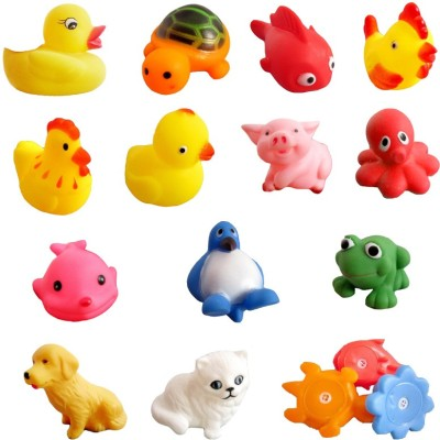 Lovely Baby Kuhu Creations Baby Swimming 13 Pcs Sounding Bath Toy