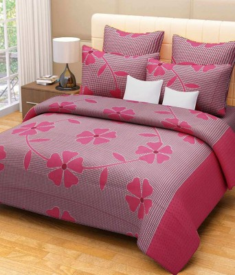 The Fresh Livery 180 TC Cotton Double Floral Bedsheet