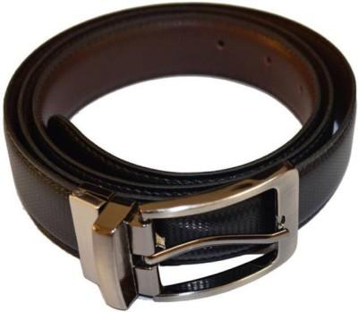 Bagrastore Boys Black Genuine Leather Belt