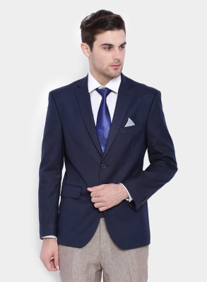 SuitLtd Solid Single Breasted Formal Men's Blazer