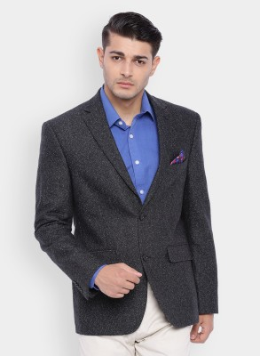 SuitLtd Solid Single Breasted Casual Men's Blazer