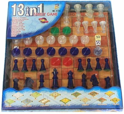 Turban Toys 13 in 1 Family Games Board Game