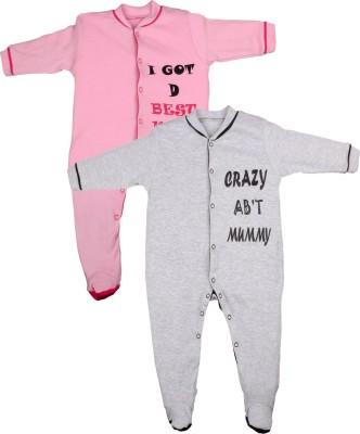 Gkidz Baby Boys Pink, Grey Sleepsuit