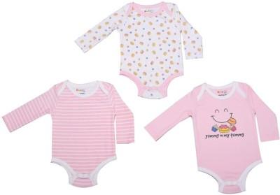 Begonia Baby Girls White, Pink Bodysuit