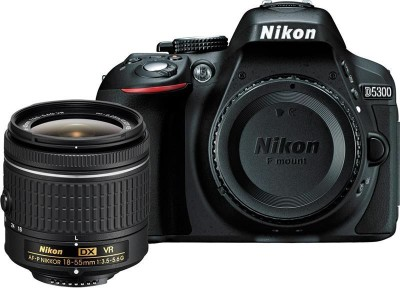 Nikon D5300 DSLR Camera Body with Single Lens: AF-P DX NIKKOR 18-55 mm f/3.5-5.6G VR Kit (16 GB SD Card + Camera Bag)