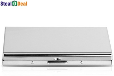 Stealodeal Aluminum Silver Pocket Business Atm Case Metal Box 6 Card Holder
