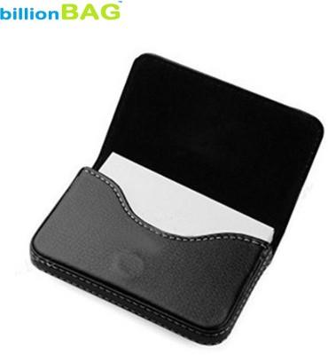 Billionbag Soft Black Leather Business Purpose Visa Visiting 15 Card Holder