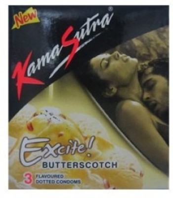 KamaSutra Excite Butterscotch Flavoured - Pack of 3 X 25 Condom