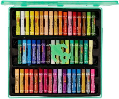 Camlin Camel Oil Pastel with Reusable Plastic Box - 50 Shades