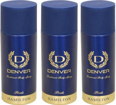 Denver Pride Combo (Pack of 3) Deodorant Spray  -  For Men