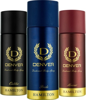 Denver Caliber, Pride and Honour Deo Combo (Pack of 3) Deodorant Spray  -  For Men