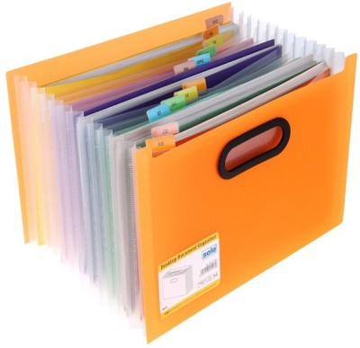 Solo 12 Compartments Polypropylene Plastic Desktop Expanding Document Organizer