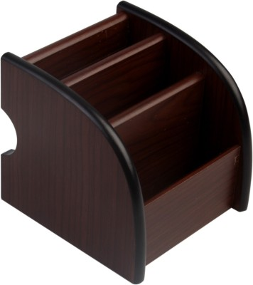 7Trees 3 Compartments Wooden Pen Stand