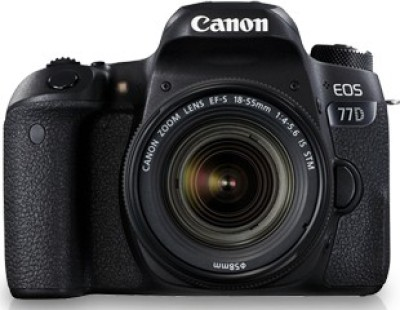 Canon EOS 77D DSLR Camera Body with Single Lens: EF-S18-55 IS STM (16 GB SD Card + Camera Bag)