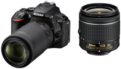 Nikon D5600 DSLR Camera Body with Dual Lens: AF-P DX Nikkor 18 - 55 MM F/3.5-5.6G VR and 70-300 MM F/4.5-6.3G ED VR (16 GB SD Card)