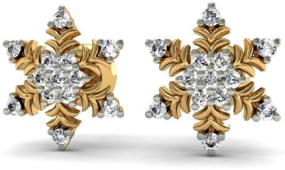 Rasav Jewels Sparkle Yellow Gold 18kt Diamond Stud Earring