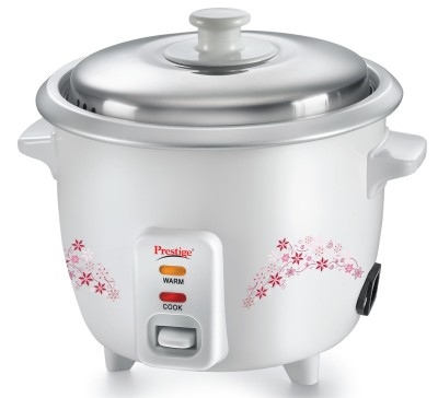 Prestige Delight PRWO 1.5 (1.5L OPEN TYPE) Electric Rice Cooker with Steaming Feature