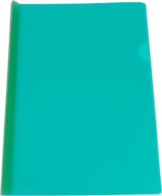 DataKing Polypropylene Stick File With Linear Embossing, Size A4, Color: Green, Free Delivery.