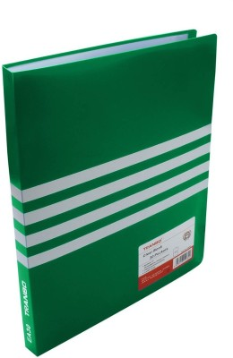 TRANBO Polypropylene Clear Book 30 Pocket File Folder Display Presentation Book