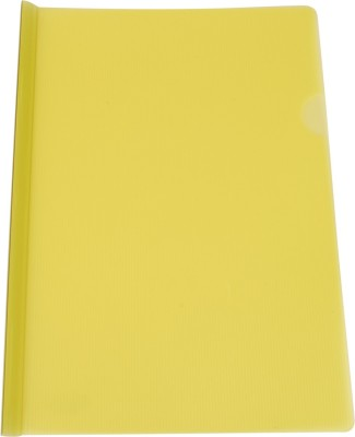 Dataking Polypropylene Stick File With Line Embossing, Size A4, Color: Yellow, Free Delivery.