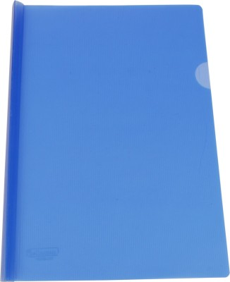 DataKing Polypropylene Stick File With Linear Embossing, Size A4, Color: Blue, Free Delivery.