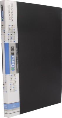 DataKing Polypropylene PUNCHLESS (LONG) CLIP FILE, Set Of 3, Size: FC, Color: Black.