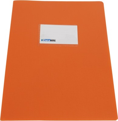DataKing Polypropylene Presentation Folder With Name Card, Size A4, Color: Orange, Free Delivery.