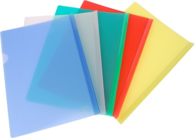 DataKing Polypropylene Stick File With Cross Line Embossing, Size CHQ, Color: Multi, Free Delivery.