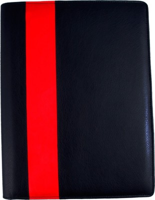 COI faux leather BLACK AND RED CONFERENCE/ DOCUMENT FOLDER