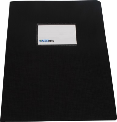 DataKing Polypropylene Presentation Folder With Name Card, Size A4, Color: Black, Free Delivery.