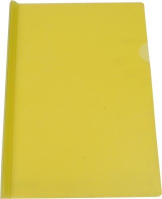 DataKing Polypropylene Stick File, Size A4, Color: Yellow, Free Delivery.