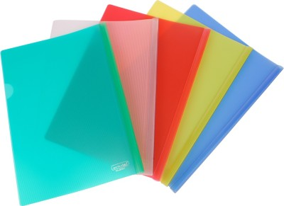 Dataking Polypropylene Stick File With Line Embossing, Size A4, Color: Multi , Free Delivery.