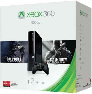 Microsoft Xbox 360 E 500 GB with Call of Duty Ghosts and Black Ops II