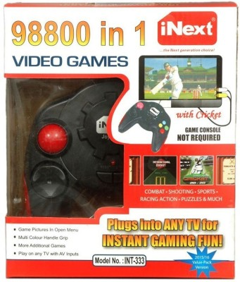 Inext 98800 in 1 Video Game - INT333 with Combate+Shooting+Sports+Racing Action+Puzzles & More