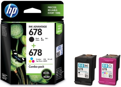 HP 678 Combo Pack Multi Color Ink Cartridge