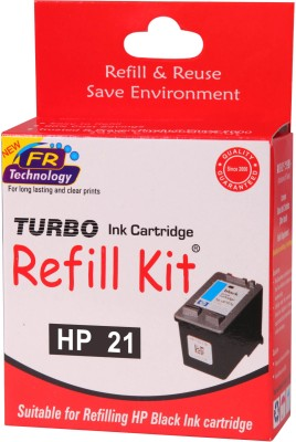 Turbo Ink Refill Kit for HP 21 cartridge Single Color Ink Cartridge