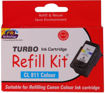 Turbo Ink Refill Kit for Canon Cl 811 Cartridge Multi Color Ink Cartridge